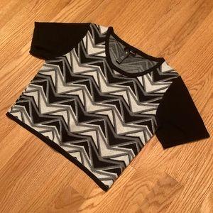 Aqua Sweater Crop Top